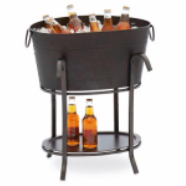 Where to find BLACK PARTY TUB W STAND in Hammond