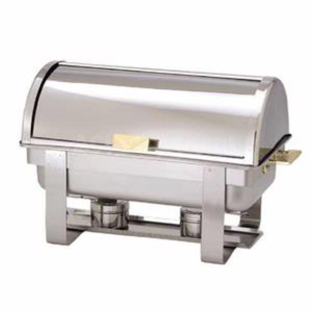 Where to find 8QT ROLL TOP CHAFFER DISH in Hammond