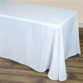 Rental store for 90 x 132  BANQUET POLYESTER TABLECLOTH in Hammond LA