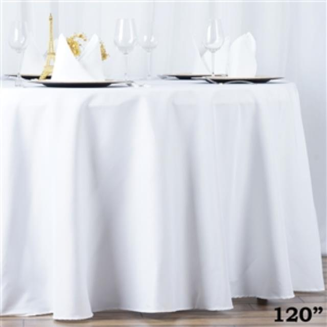 Where to find 132  RND POLYESTER TABLECLOTH in Hammond
