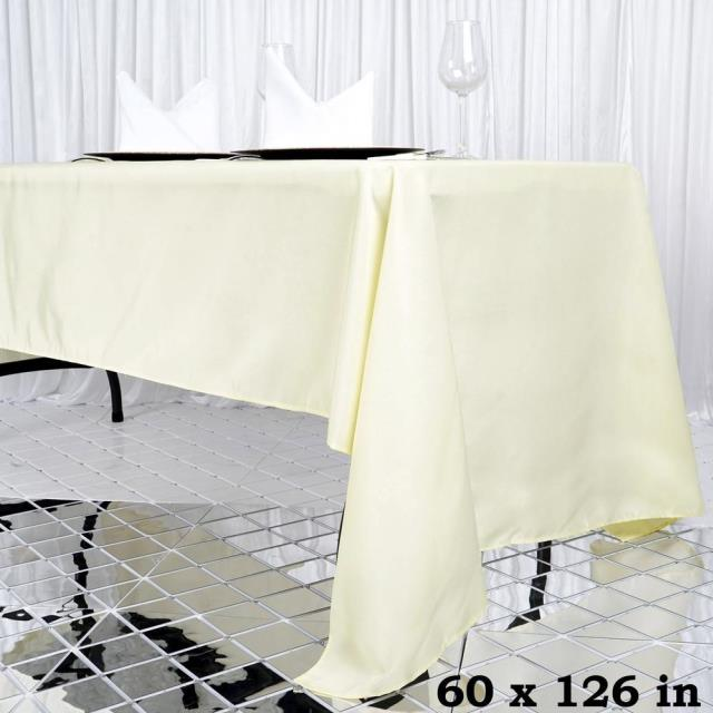 Where to find 60 x126  IVORY BANQUET TABLECLOTH in Hammond