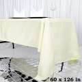 Rental store for 60 x126  IVORY BANQUET TABLECLOTH in Hammond LA
