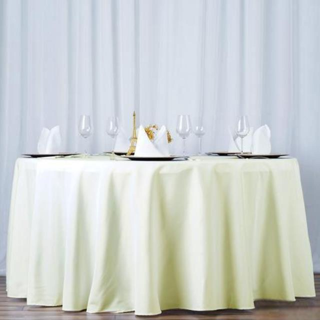 Where to find 108  IVORY TABLECLOTH in Hammond